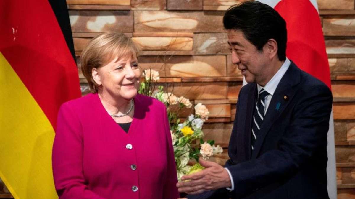 Merkel und Abe beschwören den freien Welthandel