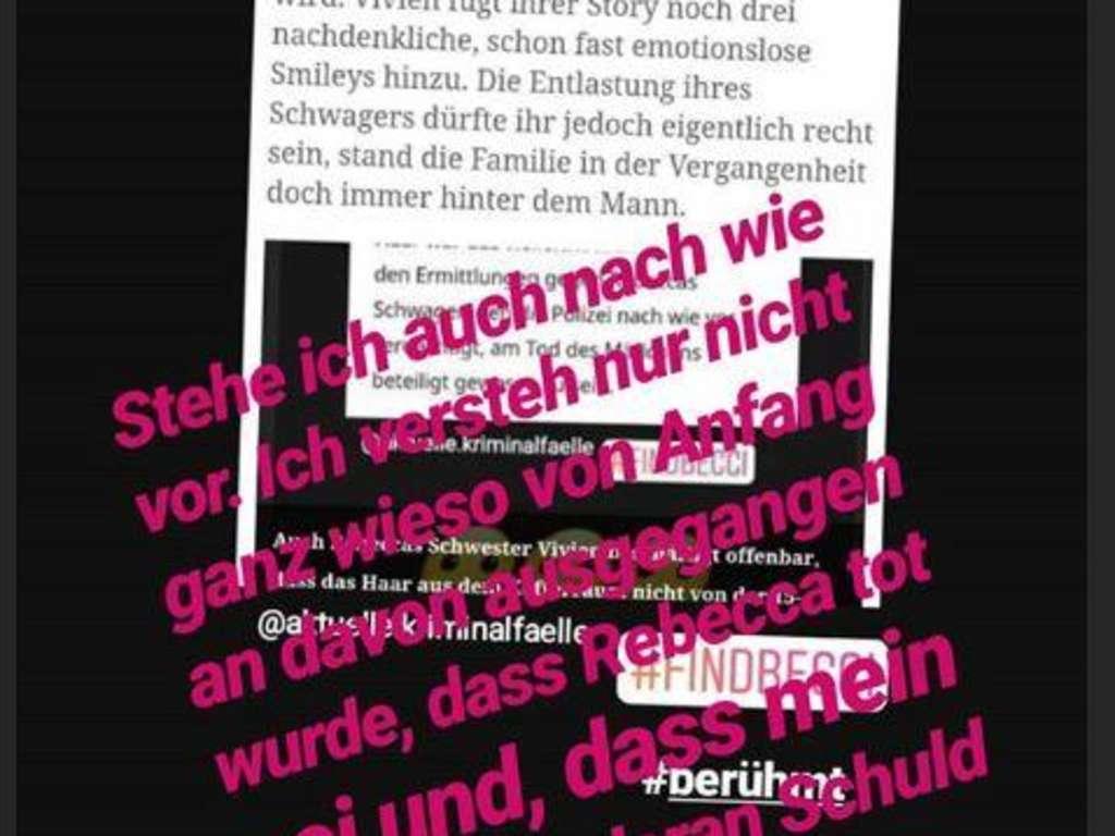 Rebecca Reusch Aus Berlin Weiter Vermisst Schwester Postet
