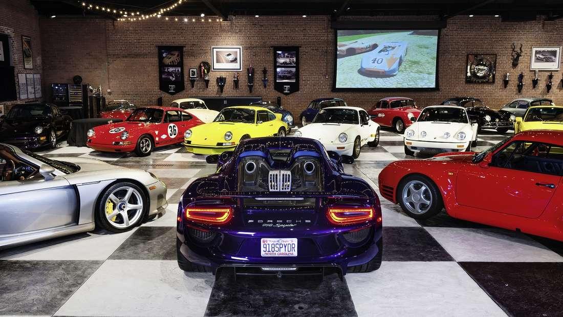 Die Ingram Collection ist eine der größten Kollektionen von Vintage-Porsche-Modellen.