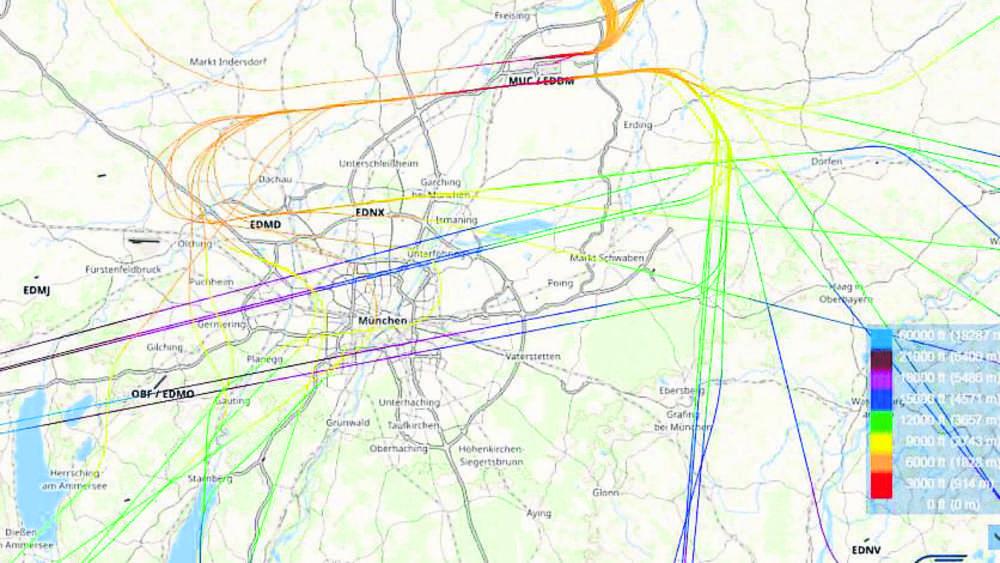 Flugrouten Karte.Flughafen Munchen Anwohner Genervt Von Vielen Jets Uber Der