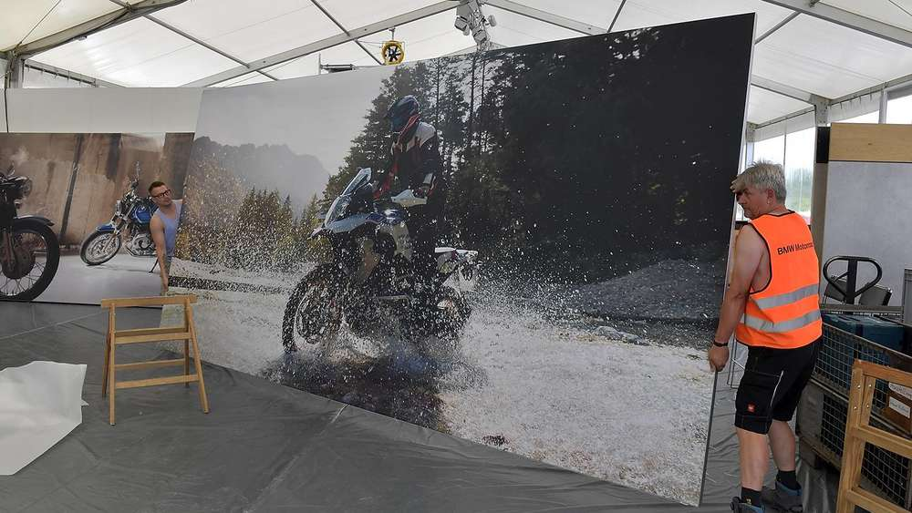 Garmisch Partenkirchen Steilwandshows Stunts Co Die Bmw