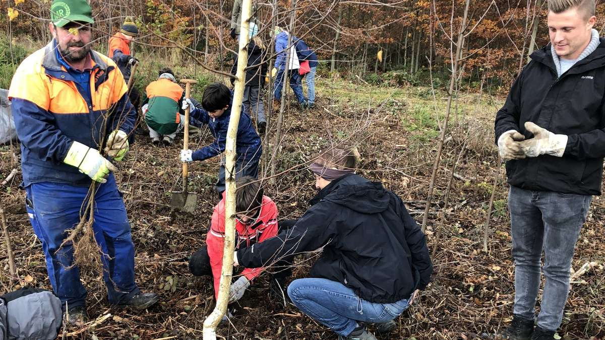 Schongau: Klimaschutz: Kinder pflanzen 600 Bäume   Schongau - Merkur.de
