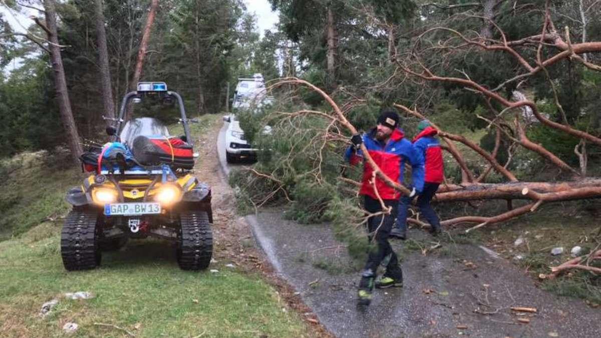 Nach Föhnsturm: Dramatische Folgen - Bäume versperren Bergwacht den Rettungsweg - merkur.de