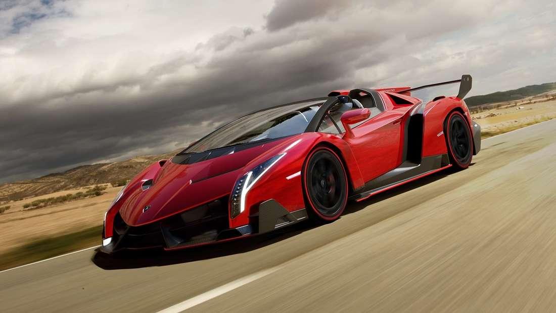 Mit einem Preis von umgerechnet rund 7,5 Millionen Euro landete ein Lamborghini Veneno Roadster auf Rang 4.