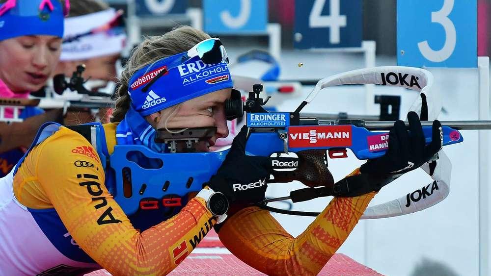 Endlich null Fehler: Vanessa Hinz blieb im Sprint von Ruhpolding in beiden Schießen fehlerfrei.