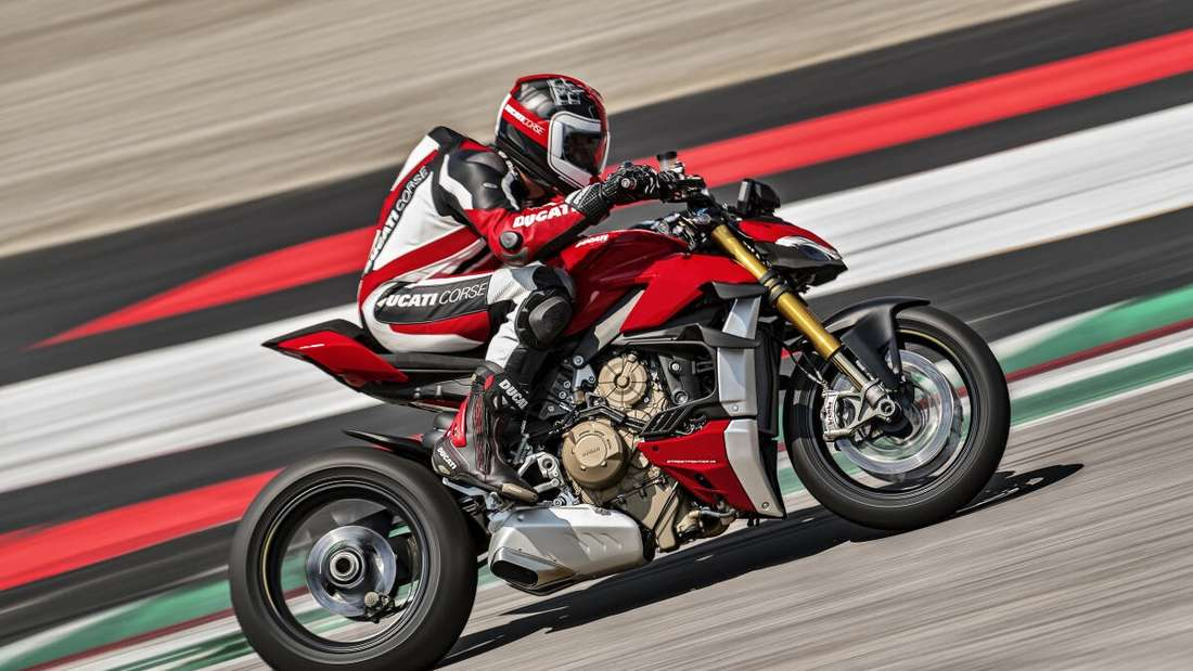 Die Ducati Streetfighter V4 ist mit 208 PS stärkstes Naked Bike auf dem Markt.