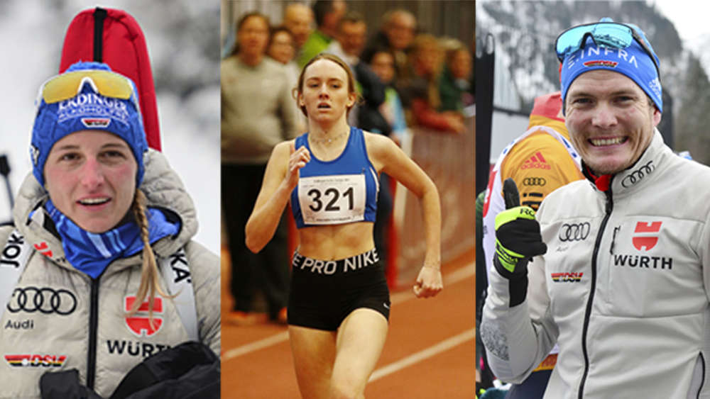 Das sind die Sportler des Jahres 2019 im Landkreis Miesbach: (v.l.) Vanessa Hinz, Sophia Schwarz und Lucas Bögl.