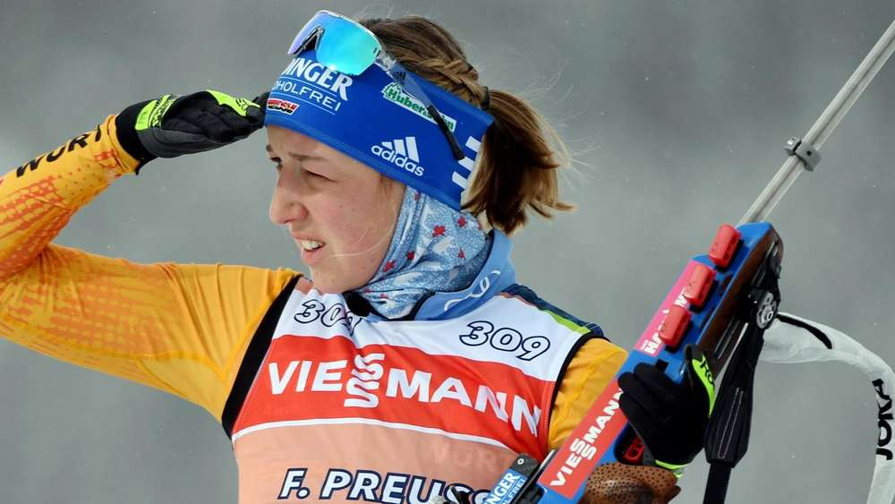 Biathlon-WM 2020: Franziska Preuß beim Schießtraining in Antholz