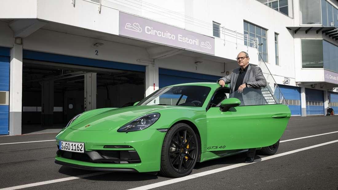 Und sein Urenkel: der Porsche Cayman GTS 4.0. Autor Rudolf Bögel war mit ihm auf der Rennstrecke unterwegs.