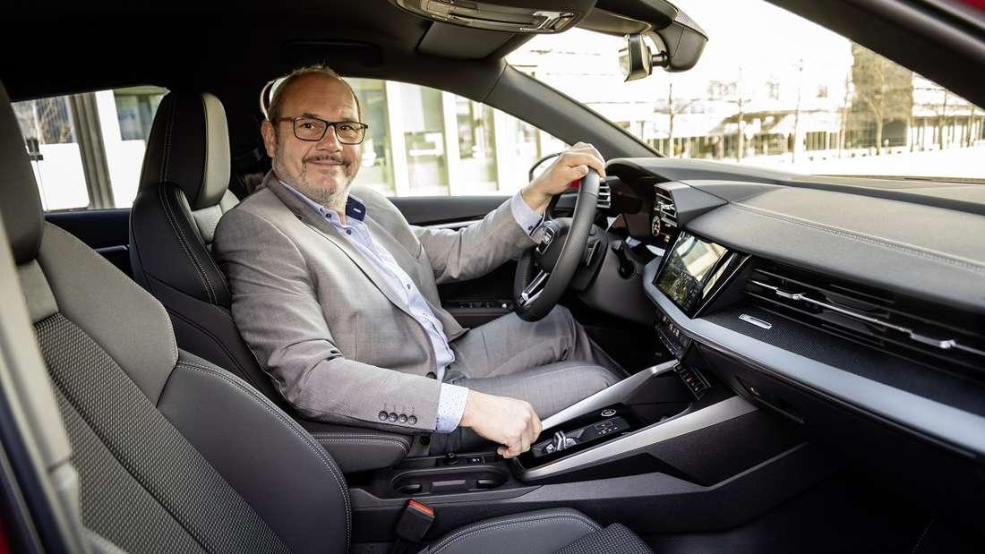 Sitzprobe und Alltagstest: Autor Rudolf Bögel checkte, wie gut der neue A3 Sportback ist.