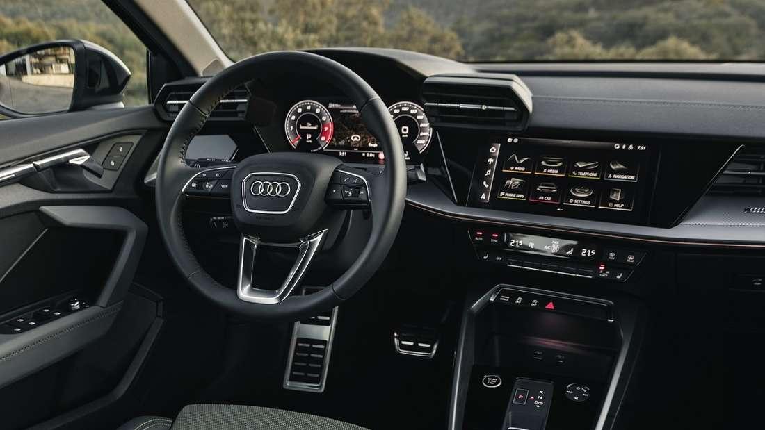 Luftdüsen wie beim Lamborghini geben dem Innenraum des A3 eine sportlich-prägnante Note.