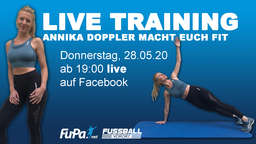 Live-Workout: Annika Doppler macht euch fit