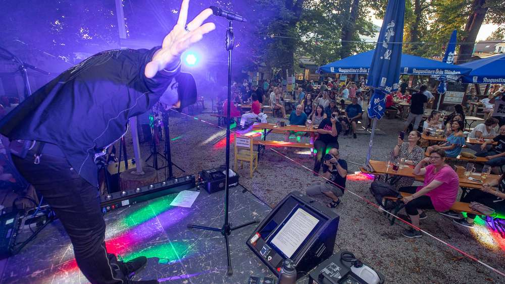 Konzert im Post-Biergarten in Herrsching in Coronazeiten