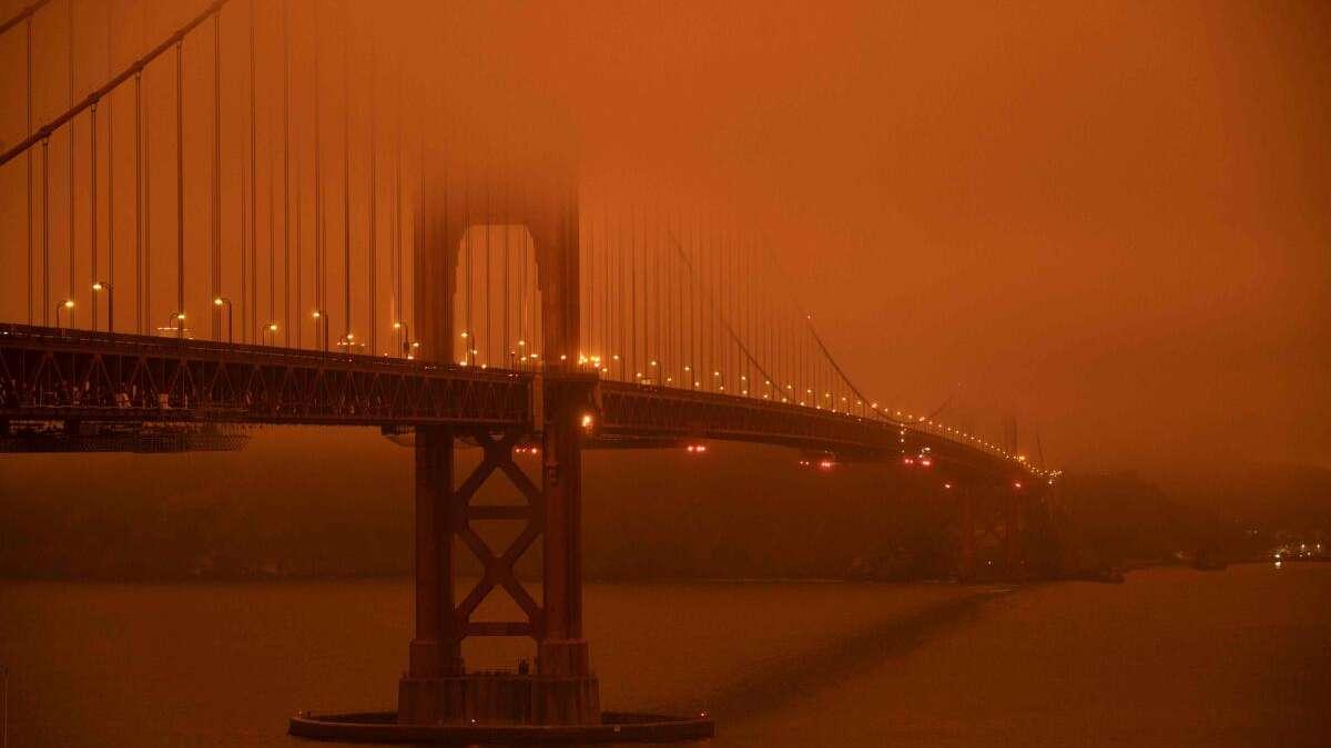 Kalifornien USA: Apokalyptische Bilder von der Golden Gate Bridge...