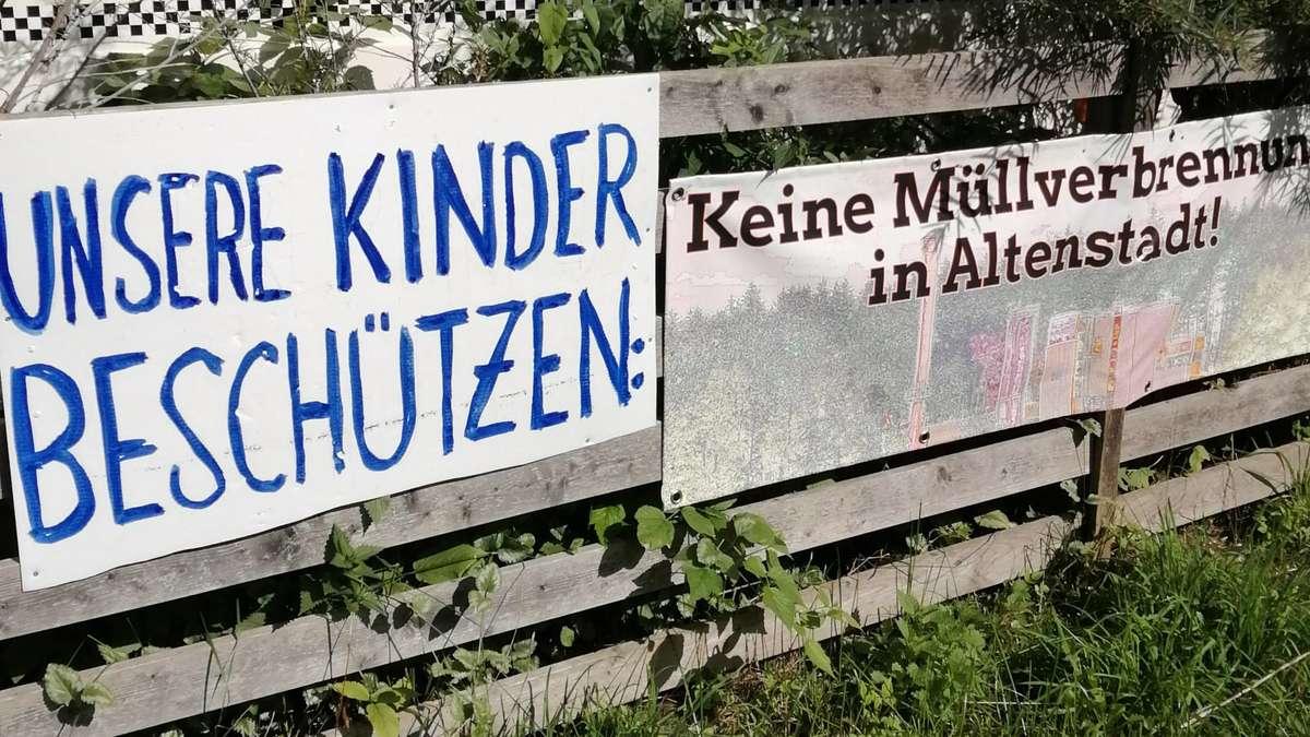 Zweite Demo gegen den Müllofen in Altenstadt