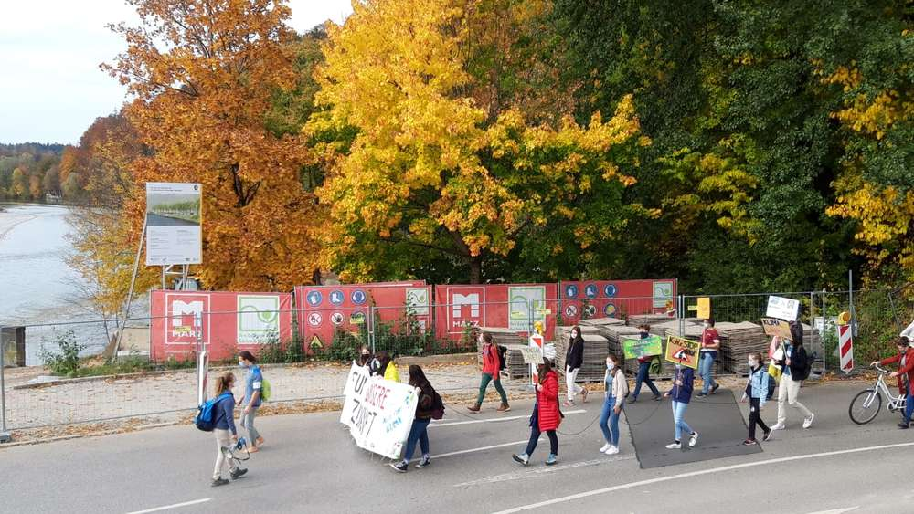 Fridays-for-Future-Demonstration in Bad Tölz im Oktober 2020.