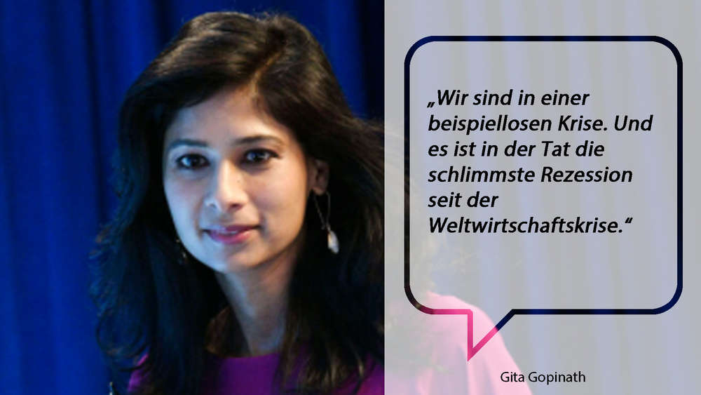 Gita Gopinath im Jahr 2019 beim International Monetary Fund (IMF)