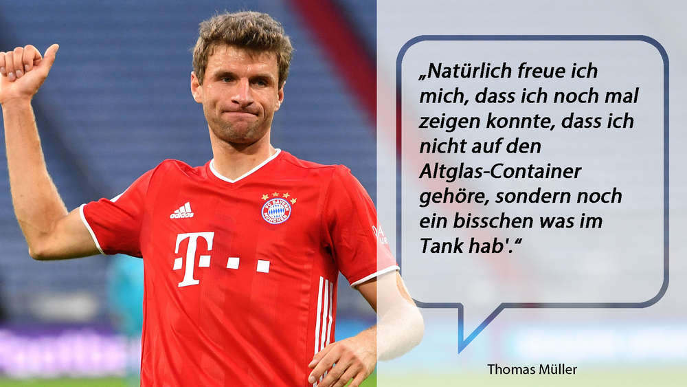 Thomas Müller in der Allianz Arena gegen Hertha BSC.