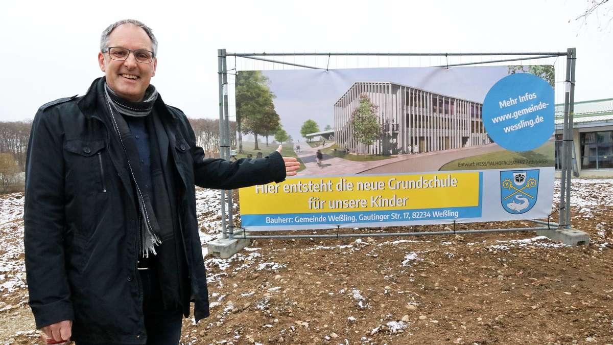 Weßling: Grundschule, Bahnhof und Wohnungsbau