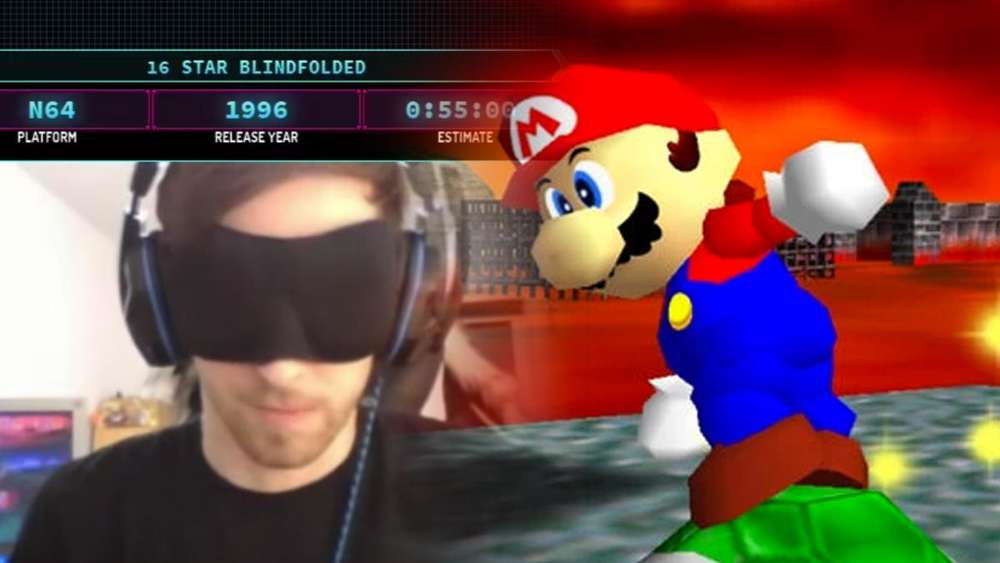 Games Done Quick Mario 64 Speedrun bubzia blindfolded augenbinde