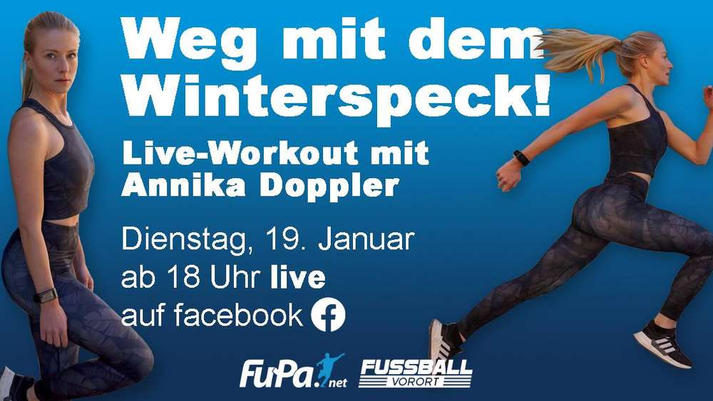 Live-Workout mit Annika Doppler: Ran an den Winterspeck!