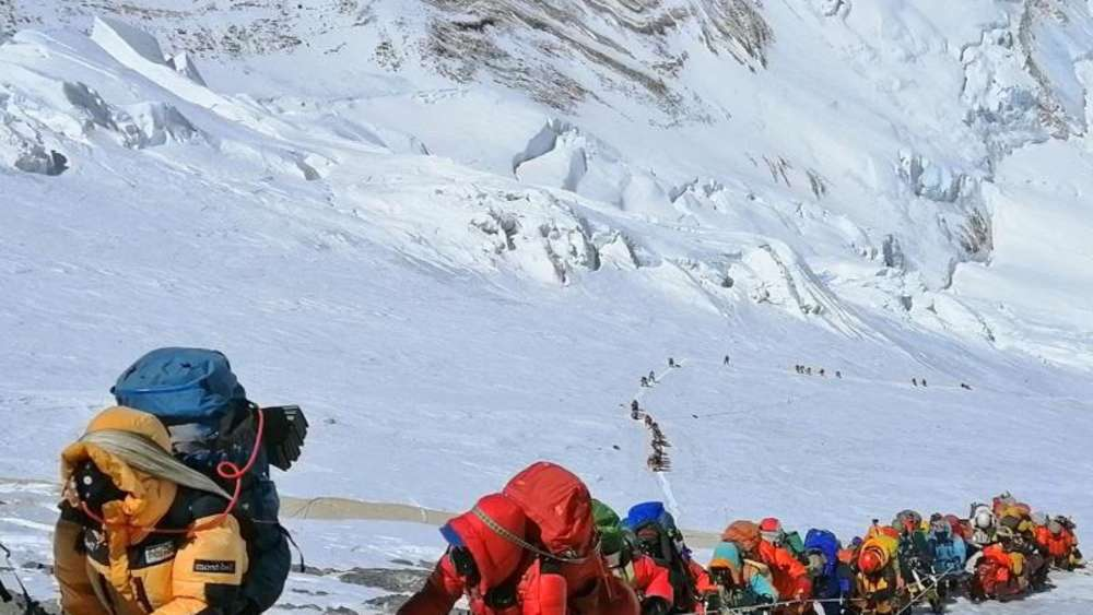Bergsteiger auf Mount Everest
