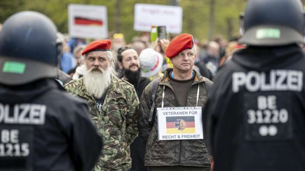 Demonstration angeblicher Veteranen