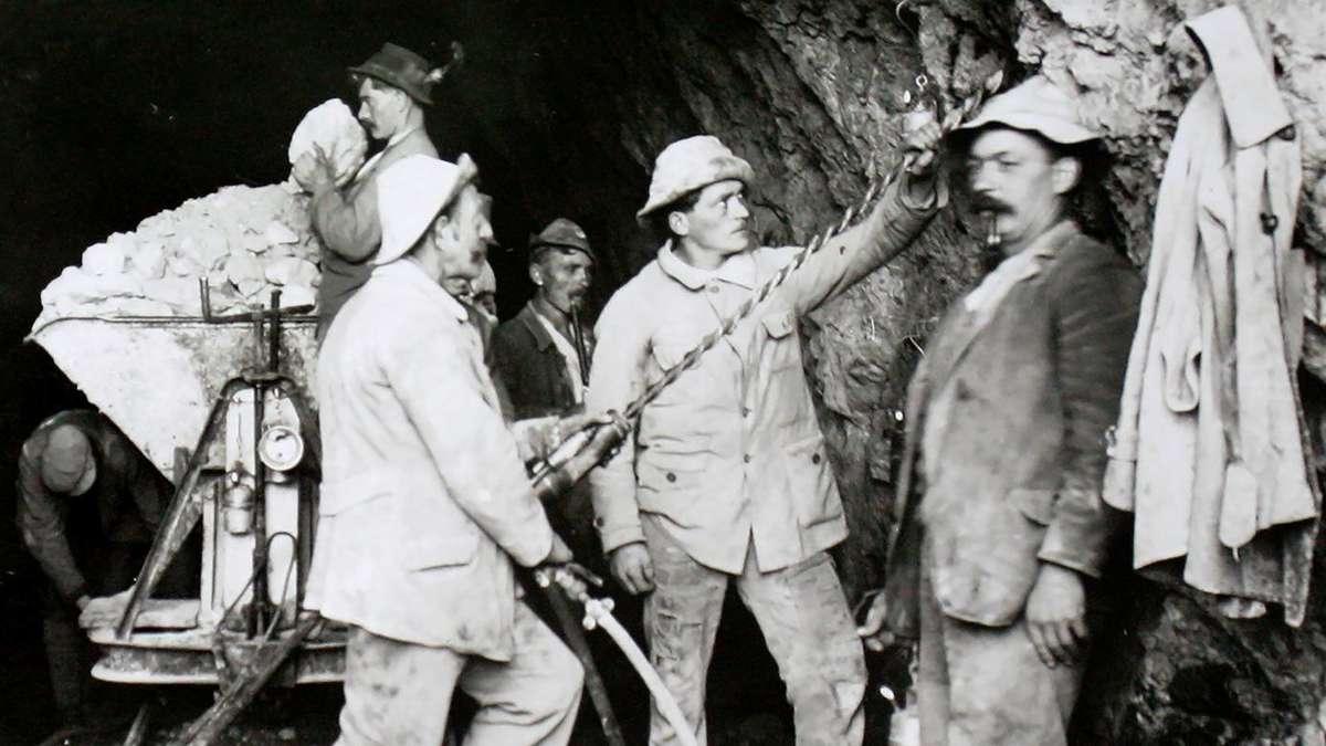 Vor 100 Jahren wurde der Kesselbergstollen als wichtigste Verbindung für das Walchensee-Kraftwerksystem erbaut
