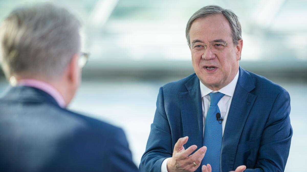"""Armin Laschet im ZDF-Sommerinterview: """"Ich bin gegen eine Impfpflicht"""""""