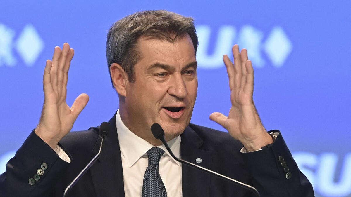 CSU-Parteitag: Markus Söder macht spektakuläres Steuer